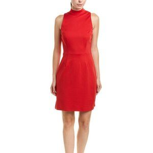 NWT Trina Turk Studio Mock Neck Solid Dress